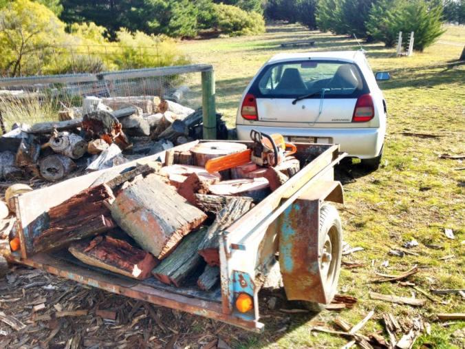 The Wheelbarrow is put to use