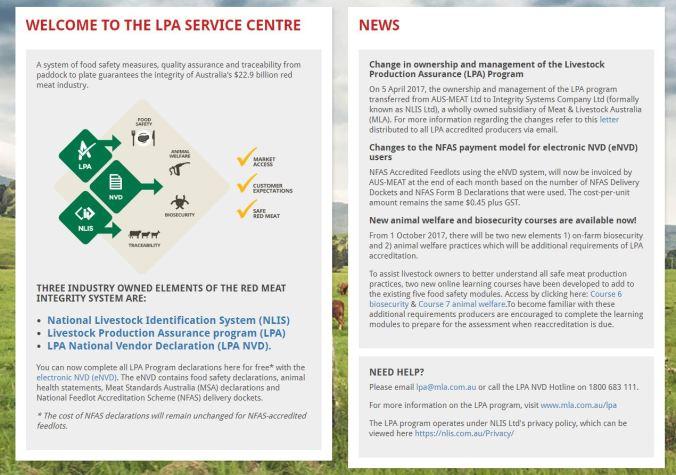 LPA service centre snapshot